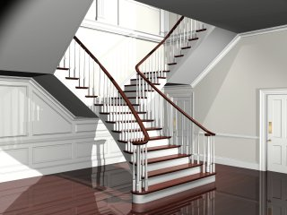 Classic curved staircases for Georgian staircase design