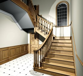 Virtual reality for Georgian staircase design
